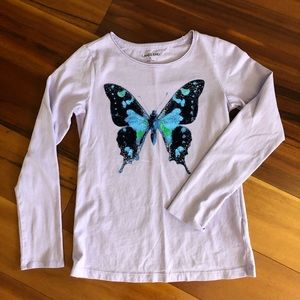 LANDS' END Girls Long Sleeve Top size 7-8